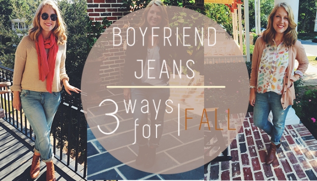 As we transition into sweater weather, many of our summer/spring staple items get tucked away. Well I'm making a point to break that habit. Boyfriend jeans can be worn year-round and are very versatile when creating looks. Don't let anyone tell you any different! It can be done.