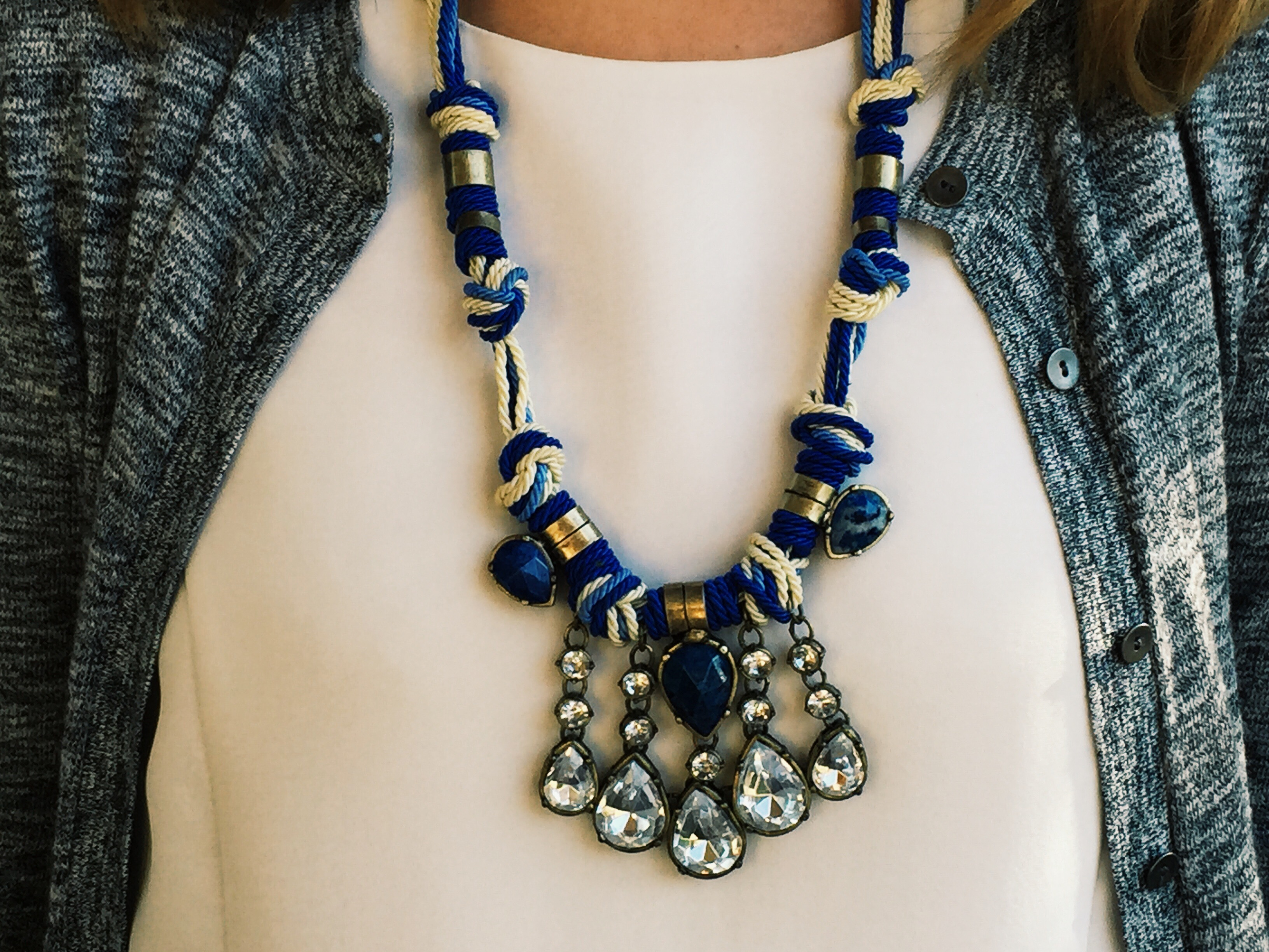 How to wear statement necklaces part one down home damsel for Words to wear jewelry