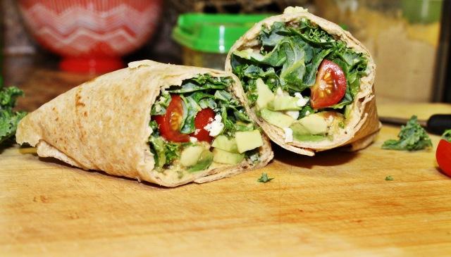 Hummus_kale_wrap